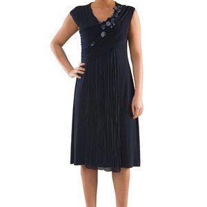 Plus Size Sassy Jersey Cocktail Dress - La Mouette